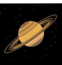 Saturn In Black 001