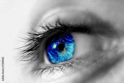 Photo  eye blue