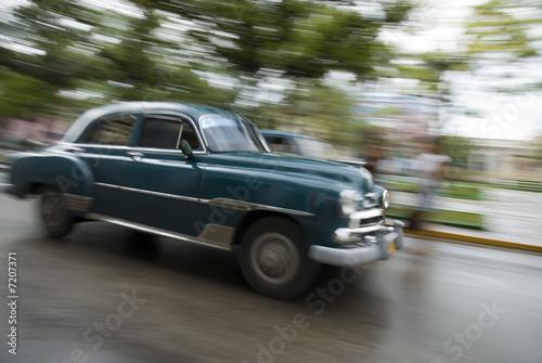 Deurstickers Cubaanse oldtimers cuba