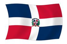 Dominikanische Republik Flagge