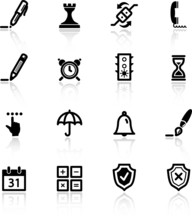Black Software Icons