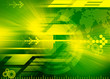 canvas print picture - world technology background - green