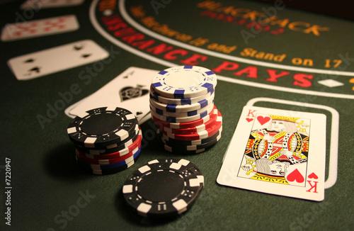 Fotografie, Obraz  Casino BlackJack