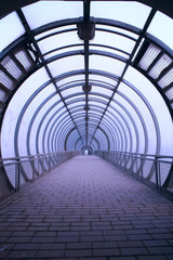 Fototapetafuturistic glass tunnel