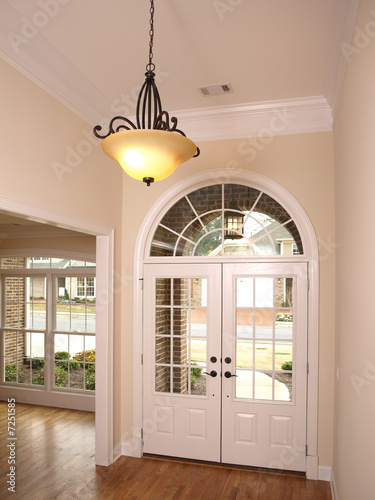 Fotografia, Obraz  Luxury Foyer with Arched glass door1
