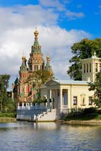 Newly Restored Tsarina's Pavilion In Peterhof Upper Garden