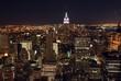 Vue nocturne de Manhattan (New York)