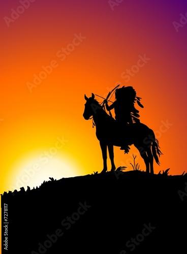 In de dag Indiërs crepuscolo lakota
