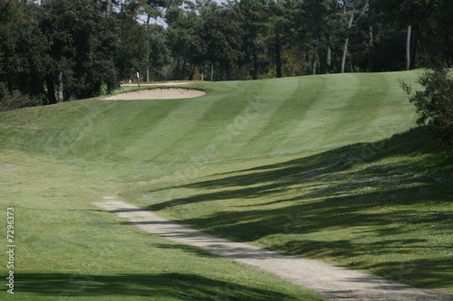 Poster Golf paysage golfique
