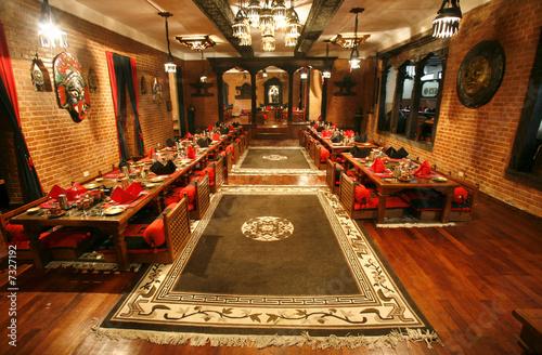 Staande foto Nepal chinese restaurant diningroom in nepal