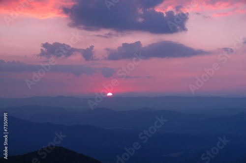 Photo Sunset over the Allegheny Mountains