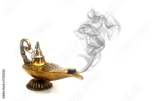 Fotografie, Obraz  Kouření Genie lampa