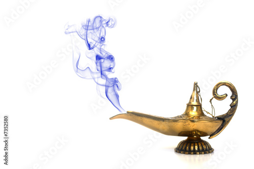 Fotografia  Smoking Genie Lamp
