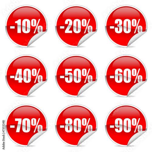 Fotografía  Discount label and sticker