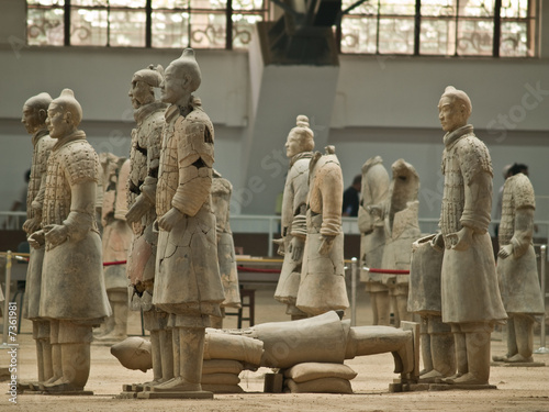 Stickers pour portes Xian terra-cotta warriors