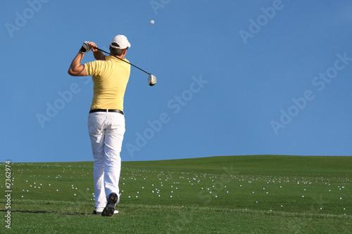 Fotografía Golf - Golfspieler beim Abschlag