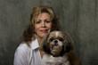 mature woman and dog