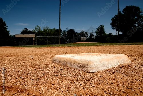 Photo  second base on the baseball field