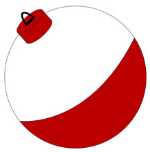 Red And White Fishing Bobber I...