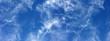 canvas print picture - ciel bleu outremer zébré de nuages d'altitude