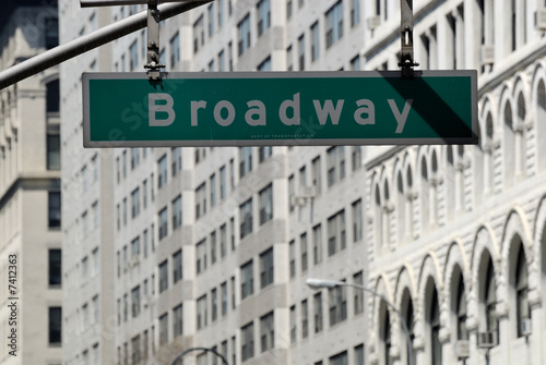 Broadway street sign in New York City