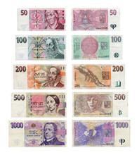 Czech Koruna Korun Money Bank Notes