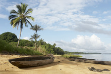Dugout Canoe On The Shore Of T...