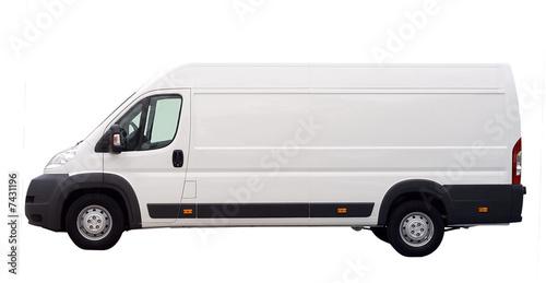 Weißer Lieferwagen isoliert Fototapete