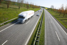 Danish Motorway - Sunday Spring Morning Traffic.