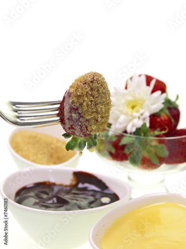 Foto op Plexiglas Klaar gerecht beliebtesten erdbeeren saftig und süße obst