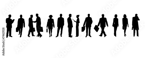 business people - silhouetten