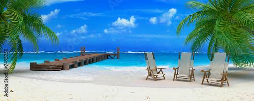 Fototapeta caraibean beach ponton 02
