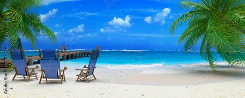 Fototapeta caraibean beach ponton 03