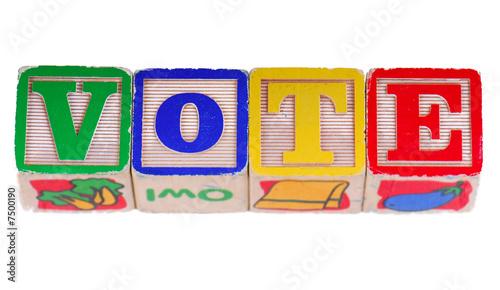 Vote in Blocks Fototapet