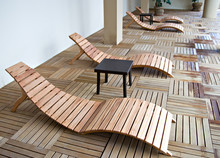 Wooden Sunbeds In Relax Zone