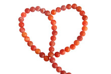 Heart Shape Made Of Aate Beads...