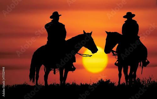 Photo  Cowboy silhouette