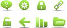 Web Icon Set 2 | Grass Series