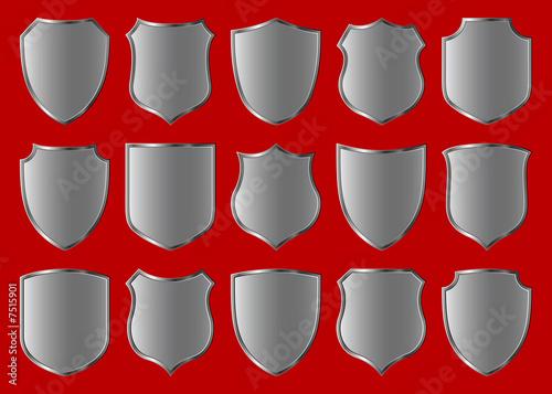 Fotografie, Obraz shield design set