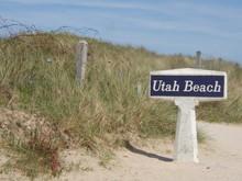 Utah Beach, Plage Du Débarquement En Normandie, France