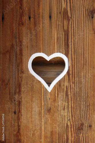 Foto-Kassettenrollo premium - Herz in einer Tür (von Ars Ulrikusch)