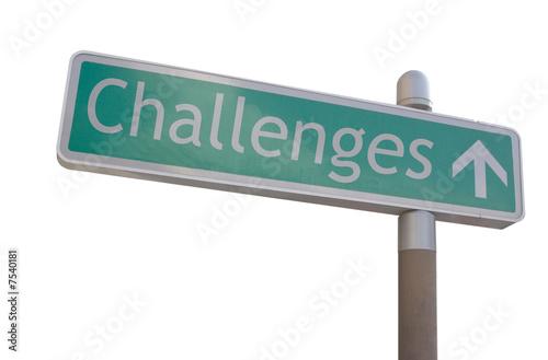 Fotografie, Obraz  Challenges Sign