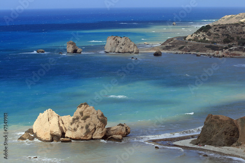 Tuinposter Cyprus Cyprus - Aphrodite's Rock and Coast