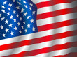 Vector American flag waving in the wind