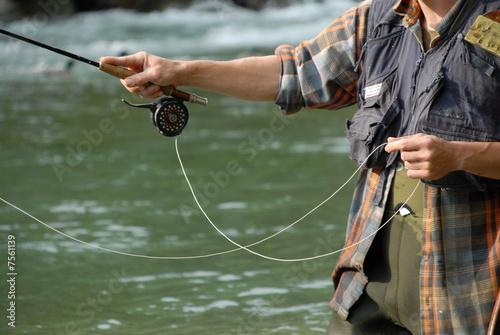 Staande foto Vissen Pêche à la mouche