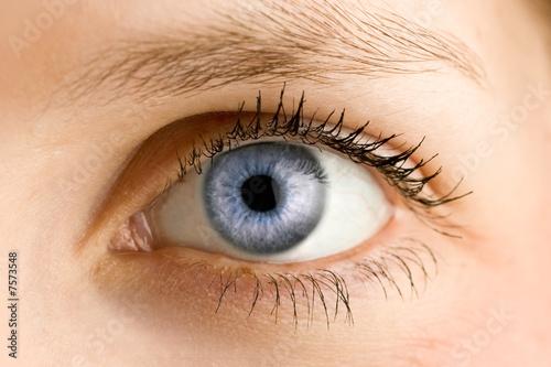 Foto op Aluminium Iris Auge - Blau