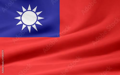 Fotografía  Taiwanesische Flagge