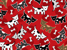 Spotted Doggies Pattern (vector) - Illustration