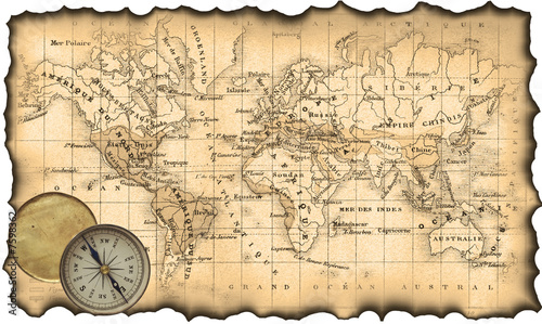 starozytna-mapa-swiata-kompas