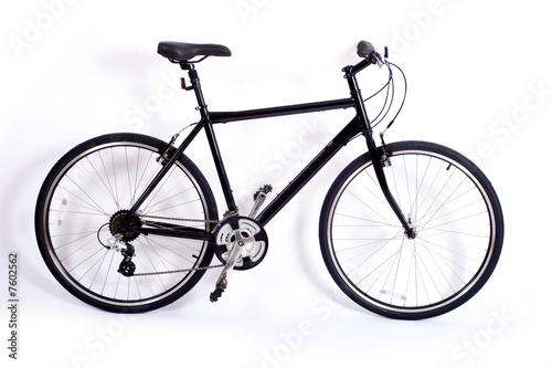 Deurstickers Fiets Bicycle on White
